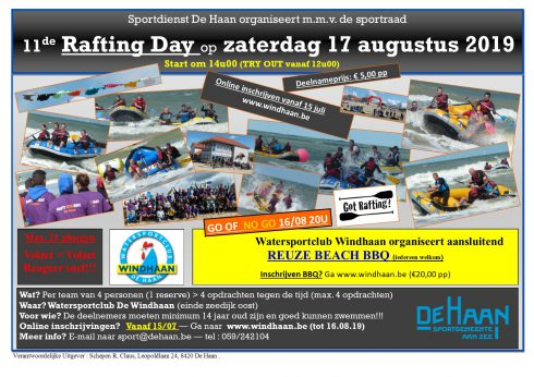affiche Rafting Day 2019